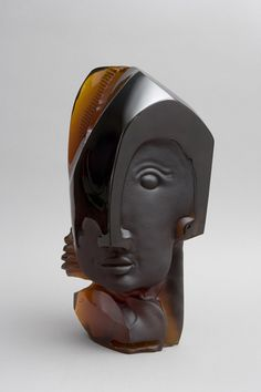"""Gilles Chabrier  (French, 1959-), """"Phoebus"""" Glass Sclupture."""