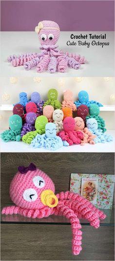 Crochet Cute Baby Octopus