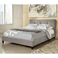 Candiac Upholstered Bed Signature Design | Furniture Cart