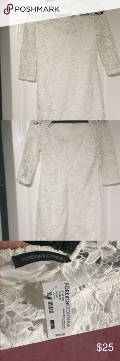 Crocheted Dress Crocheted dress. Size Large. New with tags. Foreign Exchange Dresses