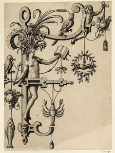 Nova Alphati effictio; Johann Theodor de Bry (Print made by); F; letter of the alphabet with a standing female nude (Fides) holding a book