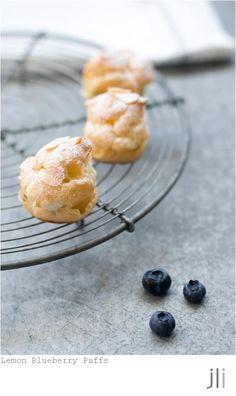 lemon blueberry puffs