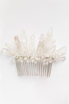 Crown of Ice Crystal Hair Comb | Alternative wedding headpiece from the New Bloom Collection by J'Adorn Designs handcrafted jewelry and bridal accessories #alternativebridal #haircomb #jadornyourlove Bridal Accessories, Wedding Jewelry, Luxe Wedding, Accessories Display, Artisan Jewelry, Handcrafted Jewelry, Crystal Hair, Hippie Bride, Bridal Comb