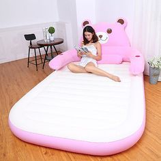 Totoro Beanbag inflatable mattress cute cartoon tatami mattress double home