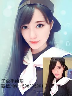 Contact me to draw your photo Whatsapp: 008618675320217 Wechat/QQ: 1598305901 Email: zcdrawing@foxmail.com  Only need to send me your original photo, better clear one. Within 3 days will finish. Accept Paypal.  #lovelygirl #prettygirl #girl #beautiful #fashionblogger #digitalart #painting #drawing #digitaldrawing #eyes #blusher #eyebrows #eyeliner #eyelashes #brownhair #longhair #loveyou #straighthair #portraits #luhan #xiaoluhan  #photography #photographer #usa #europe #Australia #UK #hat Family Painting, Painting Of Girl, Painting & Drawing, Digital Portrait, Portrait Art, Boy Images, Drawing Skills, Chinese Art, Asian Art