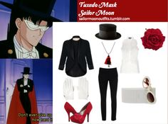 Sailor Moon Outfits  Sorry Tuxedo Mask, I think I could pull this off better than you do!  Tuxedo Mask, Tuxedo Kamen Sama
