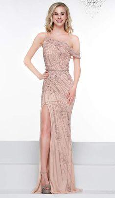3d62a3aa02a Colors Dress Embellished Asymmetric Neck Sheath Dress