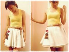 Circle skirt + lining tutorial
