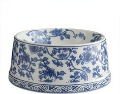 blue and white pet dish...lucky dog!
