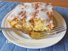 Honey Bun Cake - This cake is wonderful and may be my favorite. Great for breakfast with coffee or as a snack anytime. Guests and family will love it!
