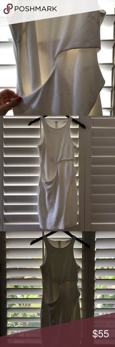 White cocktail dress Fun but conservative cocktail dress. Very great quality material, perfect for a dinner or cocktail attire. Bailey 44 Dresses Mini