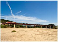 https://flic.kr/p/oDdaJM | Praia do Ribatejo 20-08-14 | Locomotiva Elétrica nº4706/4725 com o comboio nº66582