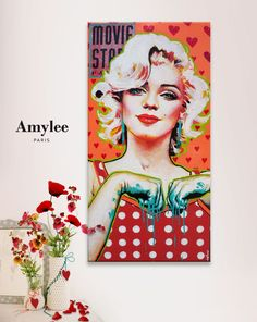 Artist:Amy Lee - portrait of Marilyn Monroe | This image first pinned to Marilyn Monroe Art board, here: http://pinterest.com/fairbanksgrafix/marilyn-monroe-art/ || #Art #MarilynMonroe