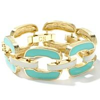Love the white, turquoise, and gold for summer. I hear a patio calling.