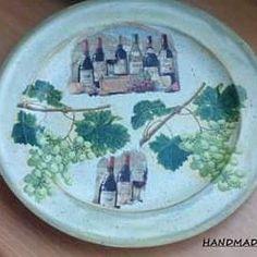 Χειροποίητος ανοξείδωτος δίσκος με με decoupage και οξείδωση, σε παραδοσιακό στιλ!