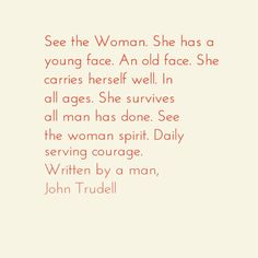 See the Woman - John Trudell