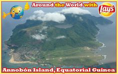 Around the World with Lays South Africa: Annobón Island, also known as Pagalu or Pigalu, is an island of Equatorial Guinea. Annobón is an extinct volcano of which just the 598 m (1961 ft) peak (called Quioveo) rises above sea level. It is characterised by a succession of beautiful valleys and steep mountains, covered with rich woods and luxuriant vegetation. It has a central crater lake where I would love to enjoy some delicious #Lays moments. What a beautiful adventure it will be!
