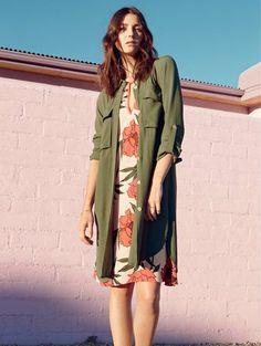 Nordstrom - 1.State Utility shirt dress Light Jacket, Dark Denim, Halter Neck, Nordstrom Dresses, Kimono Top, Menswear, Shirt Dress, My Style