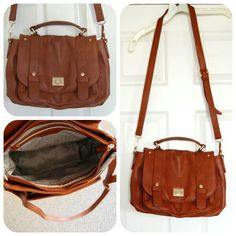 c4a153e2f58ac Emperia Clarita Messenger Bag in Brown. Not sure if this is leather
