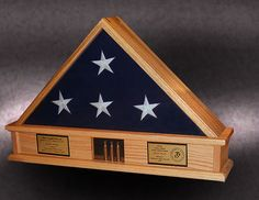 memorial flag box with shell casings