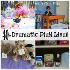 This website provides many dramatic play ideas for children; an excellent resource to have so that children can express themselves in living the experience of the adult world. Children may learn social interaction, share ideas, and practice emotional regulation.