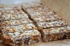 Healthy Deserts, Healthy Snacks, My Favorite Food, Favorite Recipes, Oat Bars, Good Food, Cooking Recipes, Sweets, Bread