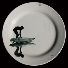 "Surf collection #surf #plate #ceramics #handpainted [THJané, ""270613"", 2013 