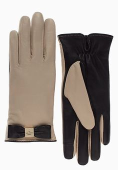 We're seriously crushing on these Kate Spade leather bow gloves.