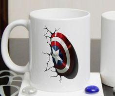 captain america Mug 11oz Two Sides Coffee Tea Cup Home Office Mugs #MugDesign