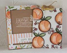 Stampin' Up! Brandi's Magic Card Fold using Fruit Stand DSP and Fresh Fruit stamp set. Debbie Henderson, Debbie's Designs.