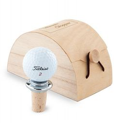 Golf Ball Wine Stopper. Mixing two of my favorite things!!