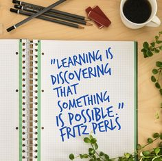 Your action for today is to make it a point to learn something new. #quoteoftheday #fritzperls #learning #possiblities #Have2cruise #have2travel