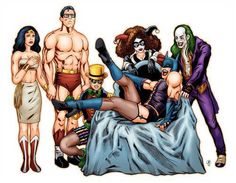 Crossover, The Rocky Horror Picture Show, Batman, Superman, Wonder Woman, Robin, Harley Quinn, Joker,