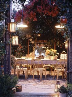 Um. I have no words for this gorgeousness.    Outdoor Dining Room because I've always wanted to live in a fairy tale