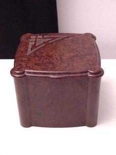 nice marbled brown bakelite box
