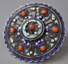 Ottoman component with coral and amazing quality enameling made into a ring . design LP (private collection Linda Pastorino)