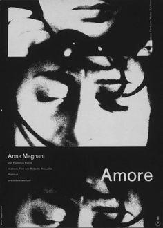 1960s German re-release poster for L'Amore (Roberto Rossellini, Italy, 1948). Designer: Hans Hillmann.
