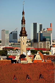 Old & New-TALLIN, Estonia (Estland): been here. That church tower used to be the tallest building in the world at one time back in the days...