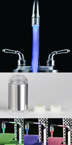 US$6.99+Free Shipping. It can change the LED's color according to the temperature of the water. Water saving design, in the connection of top, setting water saving and filter systems.
