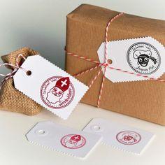 Stempels: Groeten van Sinterklaas + Groeten van Zwarte Piet. #DIY Love these!