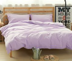 Lavender Purple Duvet Cover, Purple Bedding In Natural Linen, Twin Bedding,  Twin Duvet Cover