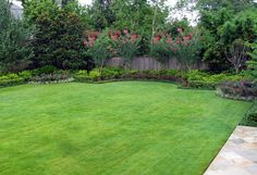 landscaped backyard ideas Landscape Mediterranean with backyard crepe myrtles formal