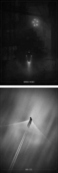 Superhero Noir Posters by Marko Manev   Inspiration Grid   Design Inspiration