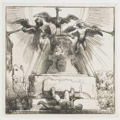 De phoenix of het omvergeworpen standbeeld, 1658, Rembrandt van Rijn