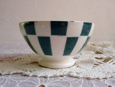 Antique FRENCH BREAKFAST BOWL Cafe au lait bowl by FrenchKlimBim,