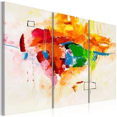 Obraz malowany 120x80 Abstrakcja 93524 - artgeist - Obrazy akrylowe #maps #art #painting