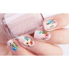 Get floral nail art and you're set to go. The patterns of floral nails art have gotten so intricate that it almost appears effortless. There are an assortment of things that could cause your nails to nice. Fancy Nails, Trendy Nails, Diy Nails, Cute Nails, Floral Nail Art, Manicure E Pedicure, Manicure Ideas, Flower Nails, Nail Art Flowers