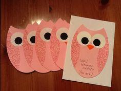Owl cards, from my craft blog.  Enjoy!