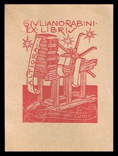 Bookplates; Bruno da Osimo - 13 nice woodcut bookplates - ca. 1938/1960 - Catawiki