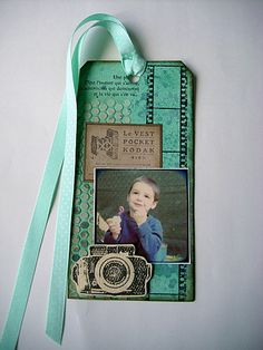 Adorable -- Great idea for a personalized photo gift tag from Le blog de lescrapdefab25.over-blog.com